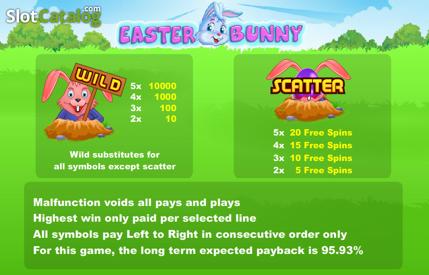 Review of easter bunny video slot from cozy slotcatalog easter bunny video slot from cozy thecheapjerseys Images