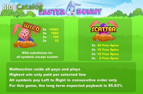 Screen2. Easter Bunny (Video Slot from Cozy)