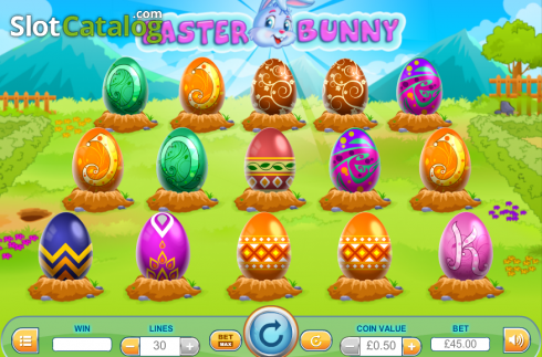 Screen5. Easter Bunny (Video Slot from Cozy)