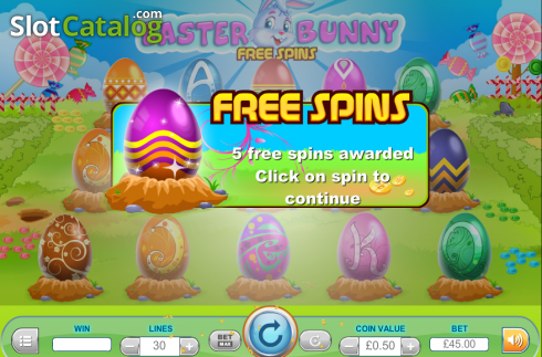 Screen6. Easter Bunny (Video Slot from Cozy)