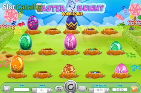 Screen7. Easter Bunny (Video Slot from Cozy)