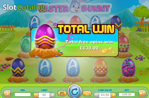 Screen8. Easter Bunny (Video Slot from Cozy)