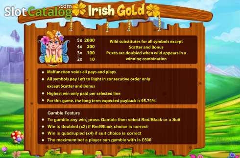 Screen2. Irish Gold (Cozy) (Video Slots from Cozy)