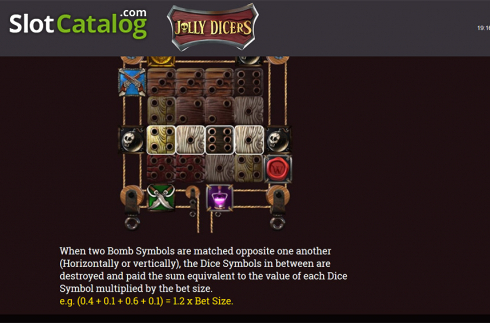 Paytable 5. Jolly Dicers (Video Slot from DiceLab)