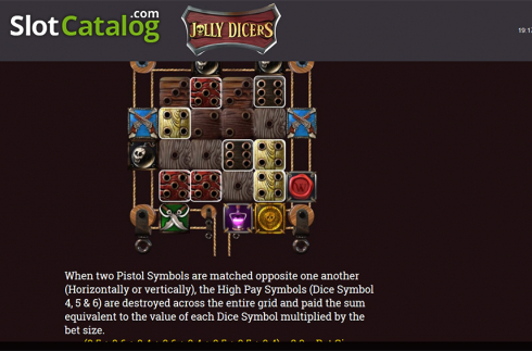 Paytable 6. Jolly Dicers (Video Slot from DiceLab)