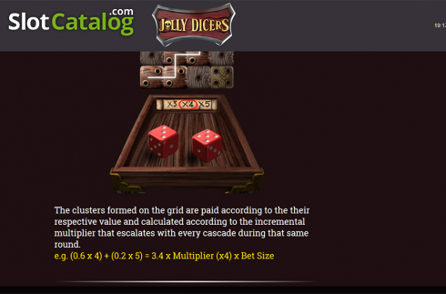 Paytable 10. Jolly Dicers (Video Slot from DiceLab)