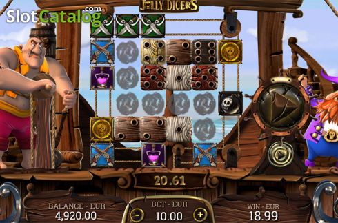 Win screen. Jolly Dicers (Video Slot from DiceLab)