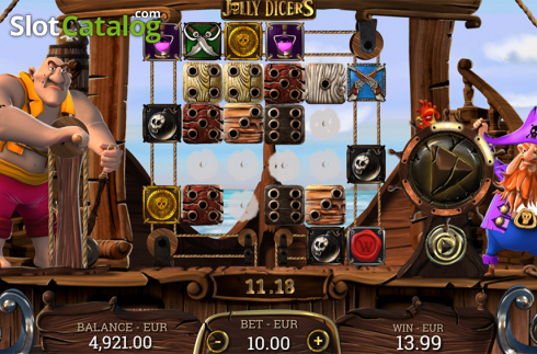 Win screen 2. Jolly Dicers (Video Slot from DiceLab)