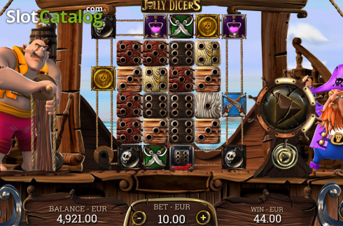 WIn screen 3. Jolly Dicers (Video Slot from DiceLab)