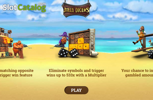 Intro screen. Jolly Dicers (Video Slot from DiceLab)