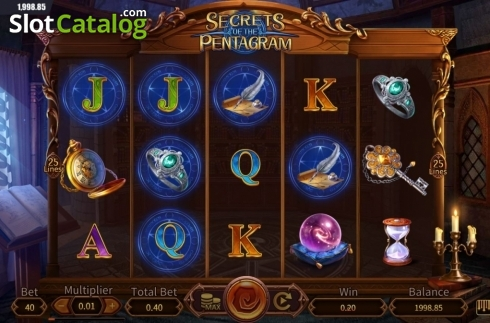 Win Screen 1. Secrets of the Pentagram (Video Slot from Dream Tech)
