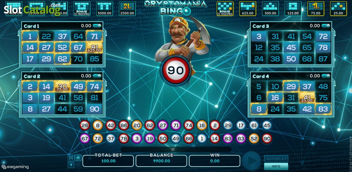 Cryptomania Bingo Slot ᐈ Claim a bonus or play for free!