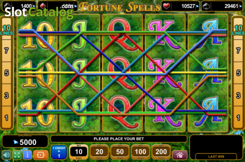 Screen6. Fortune Spells (Video Slot from EGT)
