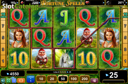 Screen7. Fortune Spells (Video Slot from EGT)