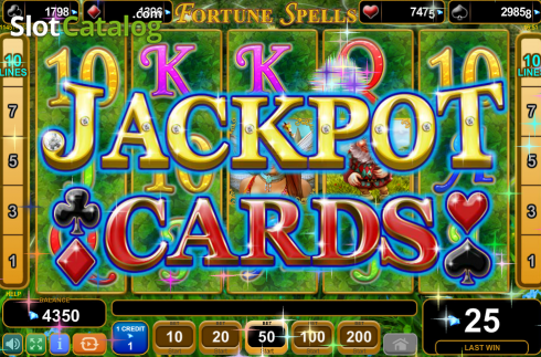 Screen8. Fortune Spells (Video Slot from EGT)