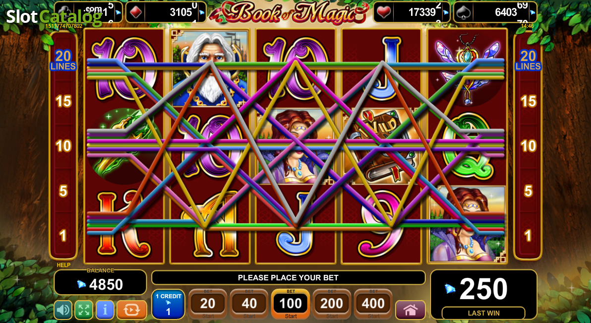 video slots online book of magic