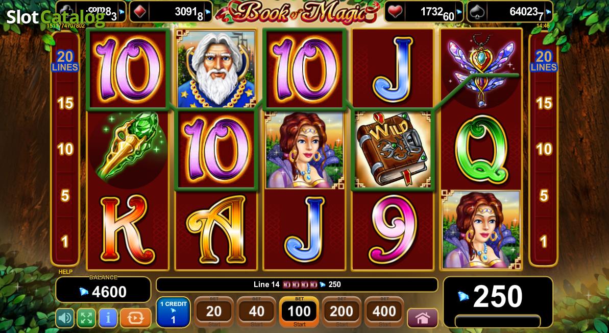 online slots games book of magic