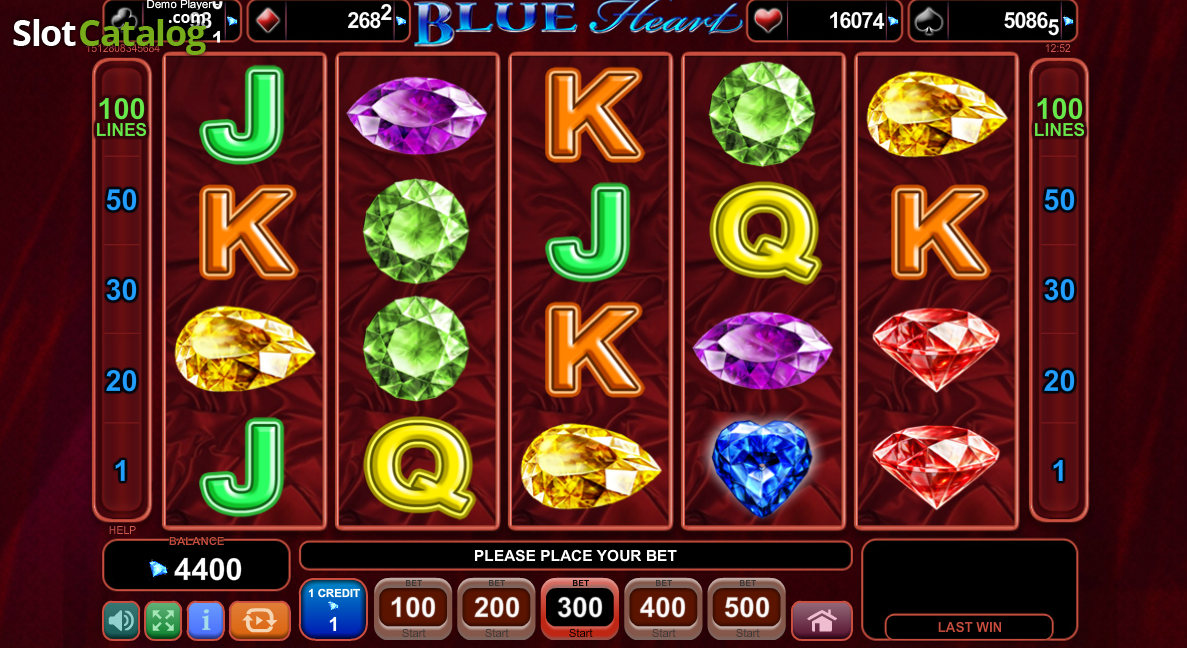 Blue Heart™ Slot Machine Game to Play Free in Euro Games Technologys Online Casinos