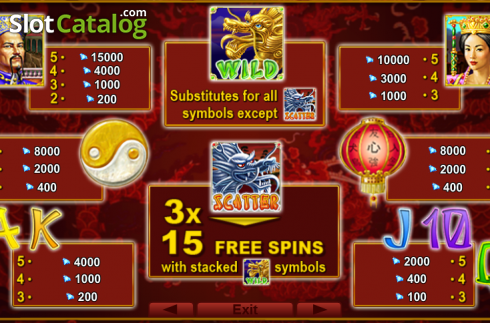 Screen2. 2 Dragons (Video Slot from EGT)