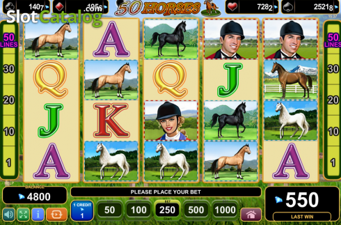 Screen9. 50 Horses (Video Slot from EGT)