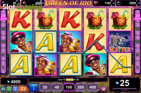 Screen10. Queen of Rio (Video Slot from EGT)