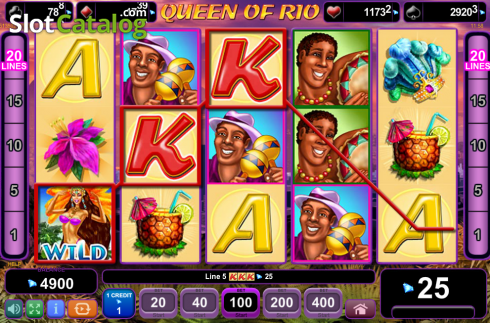 Screen8. Queen of Rio (Video Slot from EGT)