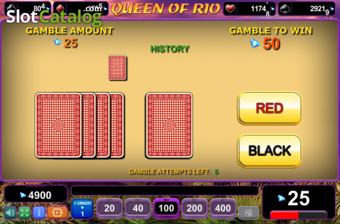 Screen9. Queen of Rio (Video Slot from EGT)