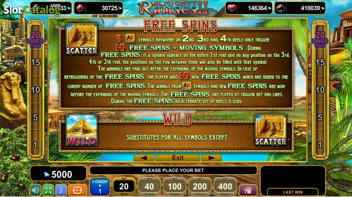 Reviews almighty ramses 2 egt slot game theme