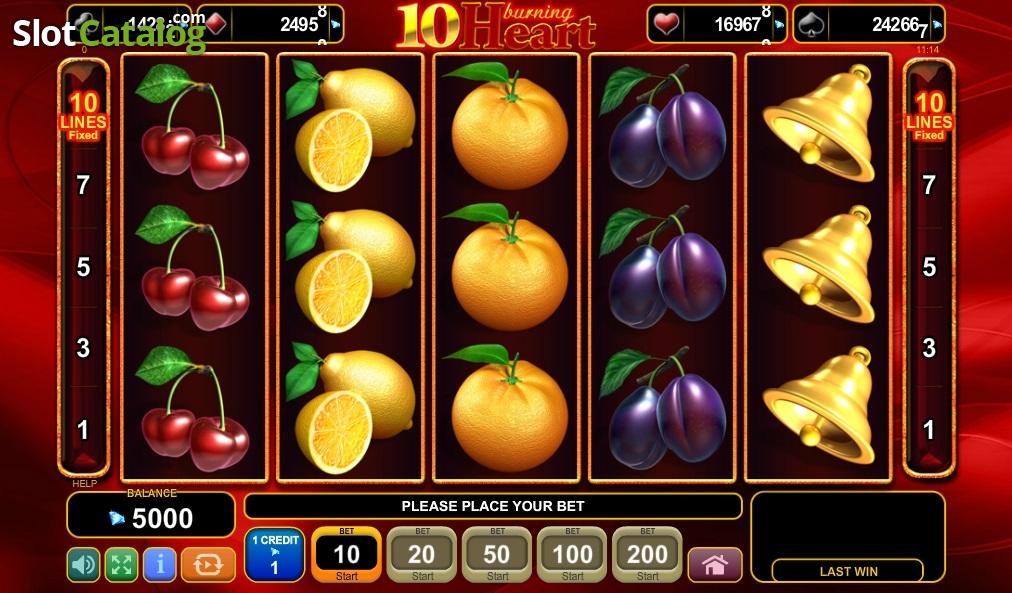 Spiele 10 Burning Heart - Video Slots Online