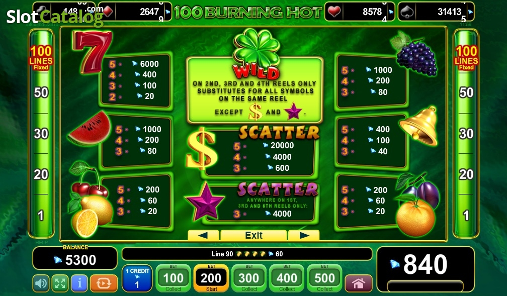 Spiele 100 Burning Hot - Video Slots Online