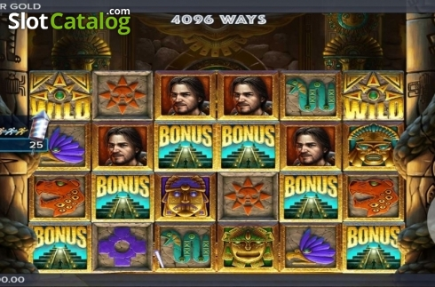 Reel Screen. Ecuador Gold (Video Slot from ELK Studios)