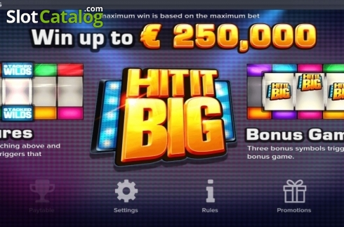 Features. Hit It Big (Video Slot from ELK Studios)