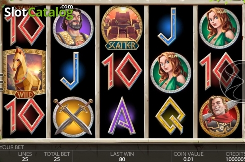 Reel Screen 1. Ancient Troy (Video Slot from Endorphina)