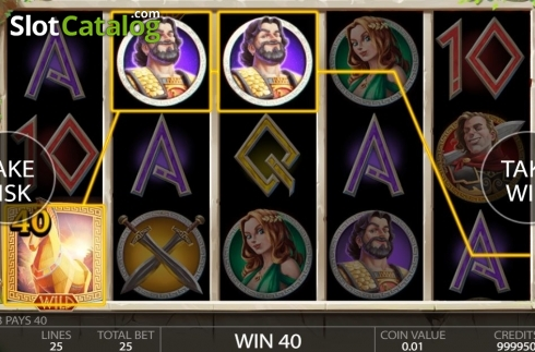 Win Screen. Ancient Troy (Video Slot from Endorphina)