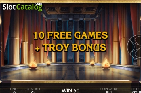 Free Spins Triggered. Ancient Troy (Video Slot from Endorphina)