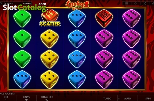 Reels screen. Lucky Dice 1 (Video Slot from Endorphina)