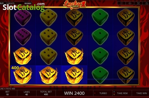 Win screen. Lucky Dice 1 (Video Slot from Endorphina)