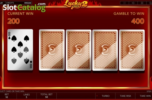 Gamble game screen. Lucky Dice 2 (Video Slot from Endorphina)