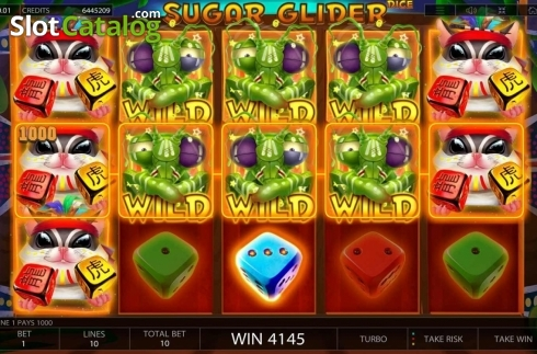 Win Screen. Sugar Glider Dice (Video Slot from Endorphina)