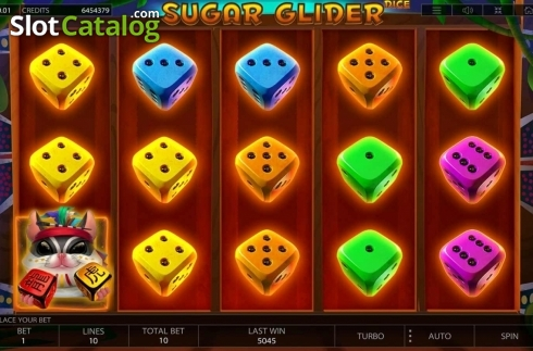 Reel Screen. Sugar Glider Dice (Video Slot from Endorphina)
