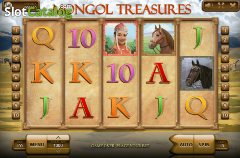 Navijáky. Mongol Treasures (Video Slot z Endorphina)