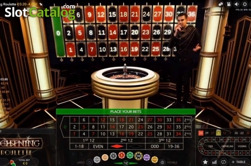 Skjerm4. Lightning Roulette (Live Casino fra Evolution Gaming)