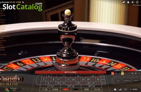 Skjerm5. Lightning Roulette (Live Casino fra Evolution Gaming)