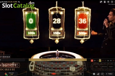 Skjerm6. Lightning Roulette (Live Casino fra Evolution Gaming)