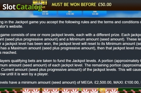 Jackpot Rules. Sugar Train Jackpot (Video Slot from Eyecon)