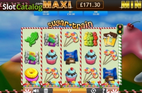 Reel Screen. Sugar Train Jackpot (Video Slot from Eyecon)