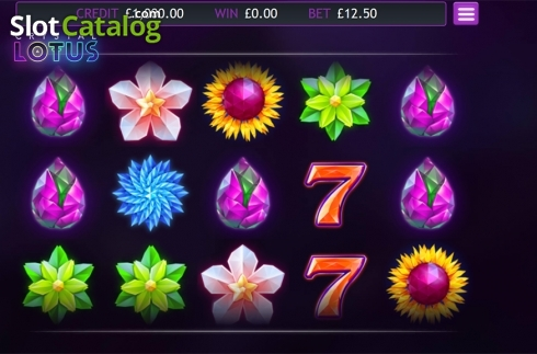 Skärm2. Crystal Lotus (Video Slot från Eyecon)