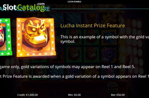 Features 1. Lucha Rumble (Video Slot from Eyecon)