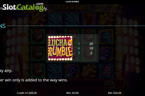 Features 4. Lucha Rumble (Video Slot from Eyecon)