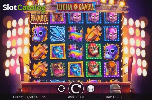 Reel Screen. Lucha Rumble (Video Slot from Eyecon)